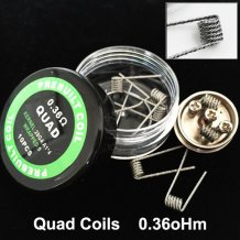 Quad Coils for DIY RDA RBA Prebuilt Atomizer premade coil for electronic cigarettes