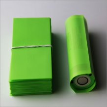 Candy Green-18650 battery PVC Heat shrink film for 18650 series battery