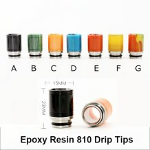 Epoxy Resin 810 Drip Tips 7 Colors
