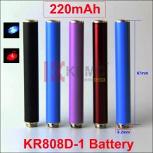 220mAh KR808D-1 battery with diamond for KR808d DSE901 4081 Ecigarettes Auto Mini KR808D Battery manufacturer