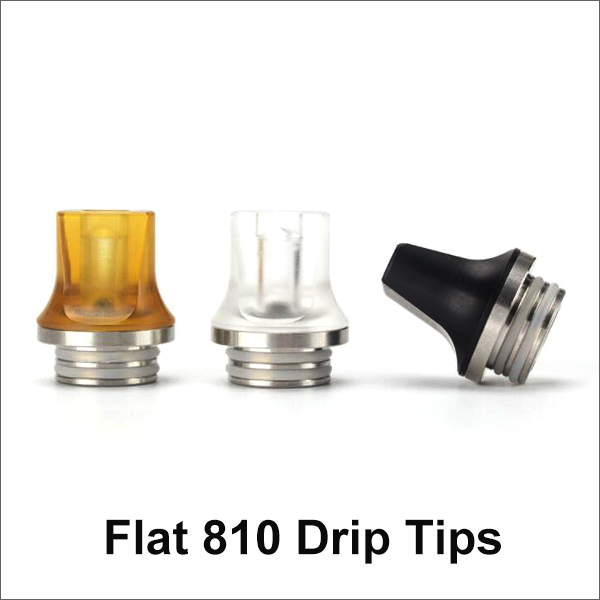 Flat 810 Drip Tips 3 Colors